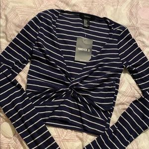 NWT Forever 21 Striped Crop Top